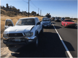 Tailgater Takes Three Cars Out in Auto Accident on HWY 240